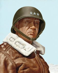 George S. Patton, Oil Painting by Artist Rick Timmons