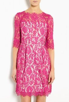 Fuchsia Stella Lace Dress by Milly