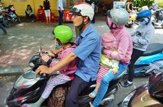 A family on one bike