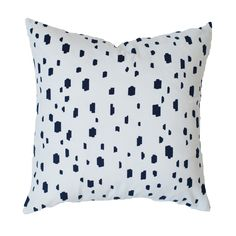 Navy Spotted Pillow   Kaitlin Wilson Textiles