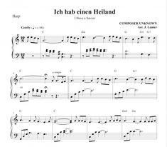 Ich hab einen Heiland (I Have a Savior) for Harp Harp, Savior, Sheet Music, Salvador, Music Sheets