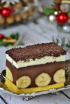Ciasto bananowo- czekoladowe - #bananowo #ciasto #czekoladowe Cake Recipes, Dessert Recipes, Polish Recipes, Cheesecakes, Tiramisu, Food And Drink, Cooking Recipes, Pudding, Sweets