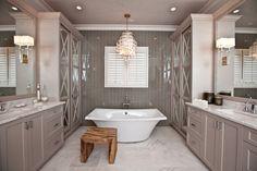 Master bathroom in the home of Greg and Kara Olsen. Photo by John W. Adkisson | CharlotteObserver.com