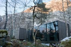 A Modern Spa Retreat in Norway - Remodelista Hotel Architecture, Landscape Architecture, White Interior Design, Construction, House In The Woods, Modern House Design, Nice View, Norway, Places To Go