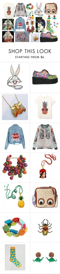 """""""Cool Unusual Sh*t I Would Totally Wear pt. 3"""" by xpissfairyx ❤ liked on Polyvore featuring Moschino, Paul Frank, Eclectic Eccentricity, WithChic, Versace, Ziggy, Betsey Johnson, Gucci and Urban Eccentric"""