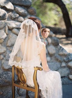 Vintage-Inspired #Wedding Hairstyles and Veils. To see more: http://www.modwedding.com/2013/09/26/vintage-inspired-wedding-hairstyles-and-veils/ #weddinghairstyles