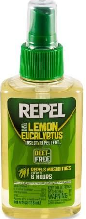 """Repel Lemon Eucalyptus Pump-Spray Insect Repellent - 4 Fl. Oz. The only VEGAN """"insect repellent"""" approved by the CDC"""