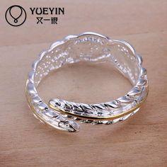 Encontrar Más Anillos Información acerca de R020 8 pierda la promoción del dinero! plata del anillo de la hoja nuevo diseño del dedo anillos de la joyería, alta calidad anillo, China los amantes del anillo Proveedores, barato anillo de murano de Allen's Watch&Jewelry  en Aliexpress.com