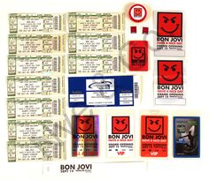 Bon Jovi Have a Nice Day tickets, passes.