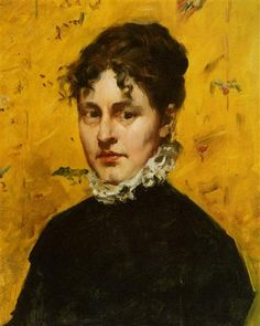 """""""Portrait of the Artist's Sister-in-Law"""" by William Merritt Chase."""