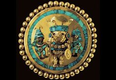 Moche gold ear-spool, Sipan tomb (photo: public dom)