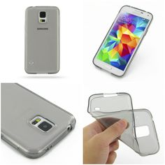 PDair Highly Transparent Soft Gel Plastic Case for Samsung Galaxy S5 SM-G900 (Grey)