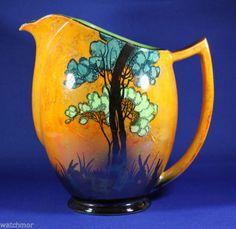 "Carlton Ware orange lustre ""Rabbits at Dusk"" jug. LOVE this gorgeous thing."