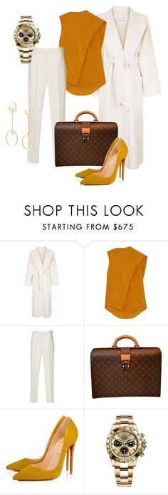 """""""Untitled #780"""" by samirahbb ❤ liked on Polyvore featuring MaxMara, Victoria Beckham, Louis Vuitton, Christian Louboutin, Rolex and Chloé"""