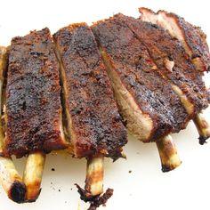 Slow Roasted Pork Ribs 2 Ribs In Oven, Bbq Ribs, Pork Ribs, Bbq Beef, Pork Chops, Rib Recipes, Cooking Recipes, Smoker Recipes, Asian Recipes