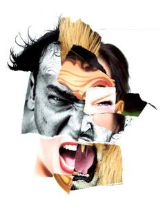 Fragments - Aggro - Melissa Yeo Perfect for GCSE question Fragments Mode Collage, Art Du Collage, Collage Portrait, Mixed Media Collage, Collage Artists, Collages, Photomontage, Photoshop, Art Brut