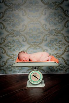 love: great use of a vintage baby scale... which I own!