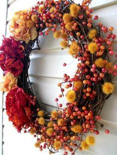 Great Ideas -- 25 Fall Wreaths!! -- Tatertots and Jello
