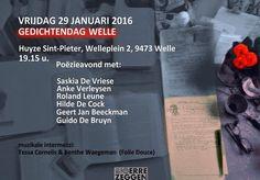 Inkt Moet Vloeien!: Gedichtendag Welle 2016