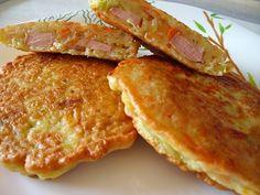 Оладьи из кабачков с сосисками, быстрый завтрак