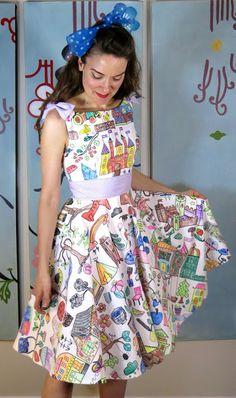coloring book dress