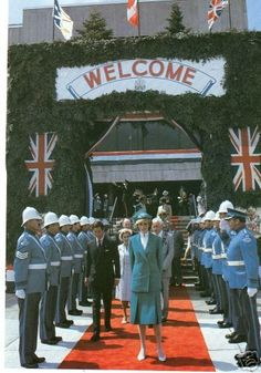 .24.06.1983. Charles and Diana at the opening of the St. John's Anniversary Celebrations on St. John's Day at Canada Games Stadium, Newfoundland. (Day 11).