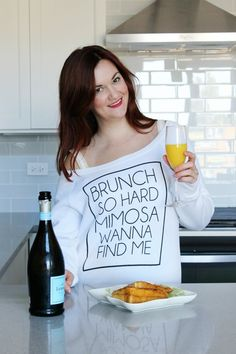 Brunch so hard mimosa wanna find me sweater by The Trendy Sparrow    * High quality triblend slouchy fit sweater    * Wideneckline and ribbed cuffs and waistband    * Each shirt is screen printed by hand for quality lettering that will not peel    * Machine wash cold    Available in s( 0-4), m(4-6), l(8-10)Specify size in comment, DM or email shopabbeyrow@gmail.com | Shop this product here: spreesy.com/abbeyrow/150 | Shop all of our products at http://spreesy.com/abbeyrow    | Pinterest…