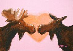 I Love My Moose PRINT 8x10 by JAustinRyan on Etsy, $22.00