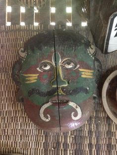 Handpainted Tribal Mask, each of these masks is made by hand