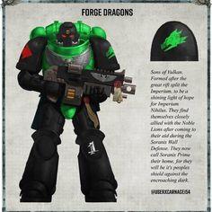 Warhammer Figures, Warhammer Art, Warhammer 40000, Space Marine, Salamanders 40k, Deathwatch, Job Help, War Hammer, Armors