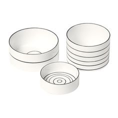 Design House Stockholm Bono Bowls (Set of 3) by Catharina Kippel. I AM OBSESSED WITH THESE.