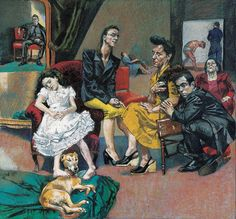 Paula Rego: this tells a story of people in a living room casually Figure Painting, Figure Drawing, Painting & Drawing, Pablo Picasso, Paula Rego Art, Mario Cesariny, Nadir Afonso, Figurative Art, New Art