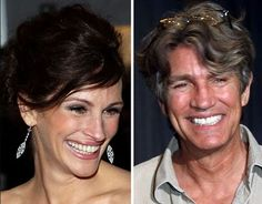 Julia Roberts and older brother Eric  Movie Star Julia Roberts