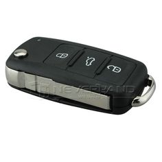 3 Button Flip Fob Remote Folding Key Shell for VW VOLKSWAGEN Tiguan Golf Sagitar Polo MK6 Uncut Blade Fob Case Cover #shoes, #jewelry, #women, #men, #hats, #watches, #belts