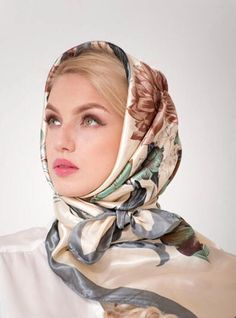 Amazing Scarves and Shawls. Hijabs, Headband Hairstyles, Cool Hairstyles, Bandana, Classy And Fab, Beautiful Hijab Girl, Scarf Knots, Head Scarf Styles, Scarf Design