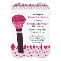 #KaraokeNights #sing #music Card Available in different #giftideas products. Check more at www.zazzle.com/graphicdesign