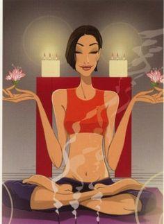 Yoga, meditation _ Yoga, meditazione - Illust: #JordiLabanda