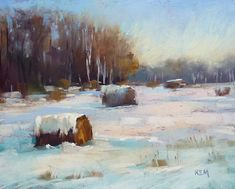 Pastel Painting Lesson Demo PDF Winter by KarenMargulisFineArt