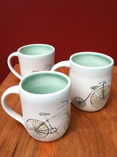 Bicycle mug by 13fields on Etsy