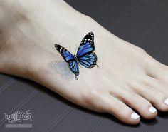 Butterfly Tattoo Design by Tattooist River. - Butterfly Tattoo Design by Tattooist River.