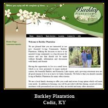 My Web Design Clients: Barkley Plantation. Cadiz, Kentucky. http://www.barkleyplantation.com/