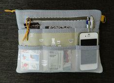 Purse Organizer {PDF sewing pattern} instant download, zipper pouch, bag, tidy, sewing, clutch, pockets, sew, pattern, sotak patterns by sotakhandmade on Etsy https://www.etsy.com/au/listing/260567605/purse-organizer-pdf-sewing-pattern