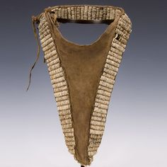 Africa | Woman's Cache-Sexe. Turkana people. Kenya | First half 20th century | Ostrich shells, leather