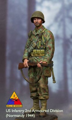 US Infantry, 2nd Armoured Division (Normandy, 1944)