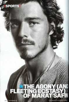 A request from All the Wine has inspired a whirlwind of hot tennis boys. I give you vintage Marat Safin. Beard Boy, Sports Personality, Looks Style, Good Looking Men, Famous Faces, Cute Guys, Pretty Boys, Sexy Men, Tennis