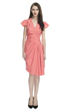 Z Spoke by Zac Posen Plunging Cowl Neck Wrap Dress