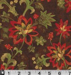SILVIA'S GARDEN - Brown Floral Print