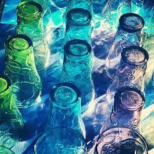 coloured bottle necks