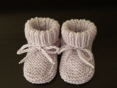 patron tricot chausson bebe