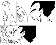 Firstkiss2 Vegeta and Bulma by longlovevegeta.deviantart.com on @deviantART